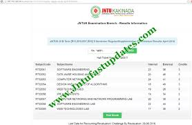 jntuk 3 2 results 2016 r13 r10 r07 r05 b tech regular supply