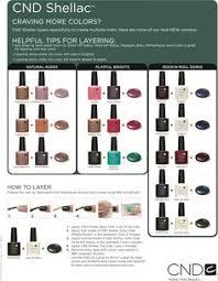 cnd shellac gel nail polish color mixes fashion