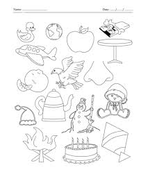 color the picture which end with letter e printable coloring worksheet