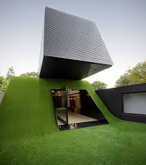 Modern Hill House Designs House On An Artificial Hill With Real Appeal