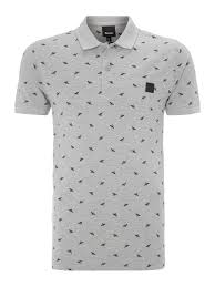 bench regular fit all over bee print polo shirt in gray for men lyst