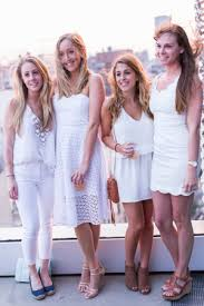 nautical chic attire they are wearing new museum s annual summer white party wwd