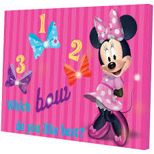 minnie mouse light up canvas wall art with bonus led lights minnie mouse light up canvas wall art with bonus led lights walmart com