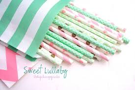 Gold And Pink Party Decorations Mint And Pink Party Mint Straws Pink Straws Gold Straws Gold