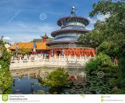 Epcot World Showcase Map Chinese Pavilion World Showcase Epcot Editorial Image Image