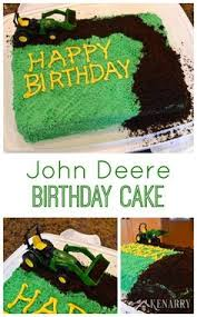 john deere number birthday cake plow tractor plowed field kids