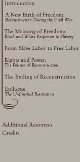 america u0027s reconstruction people and politics after the civil war