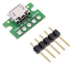 pololu usb micro b connector breakout board
