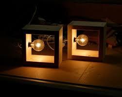 light box light bulbs simple modern box l minimalist lighting wood wooden square