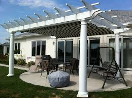White Vinyl Pergola Kits by 15 Garden Pergola Kits Vinyl Fiberglass And Wood Founterior