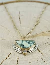 turquoise gold necklace images Half sol necklace turquoise 03 ct white diamond 18 quot 14k gold jpg