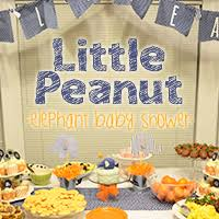 peanut baby shower peanut elephant baby shower
