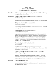 Sample Electronics Engineer Resume by It Field Engineer Sample Resume Haadyaooverbayresort Com