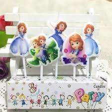 sofia the candle 5 pcs set birthday party candle lovely candle sofia