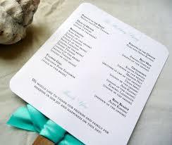 Beach Wedding Program Templates Beach Wedding Program Fan Monogram Sample By Pinkorchidinvites