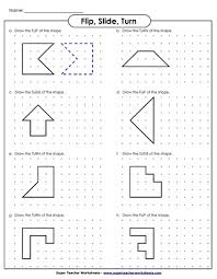 slide flip and turn worksheets