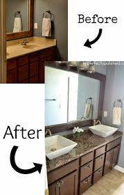 bathroom vanity makeover ideas old builder grade bathroom vanity makeover plus tutorial sypsie