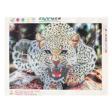 B Home Decor by 30x40cm 5d Diamond Painting Leopard Embroidery Cross Stitch Home
