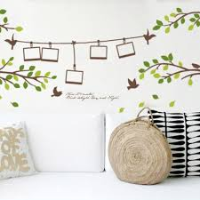 200 80cm photo frame tree branch birds 3d wall decals stickers 830