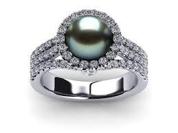pearl rings diamonds images 14k white gold diamond blue tahitian pearl spirit ring jpg