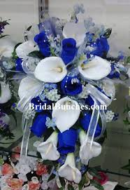 wedding flowers blue and white royal blue white calla flowers bridal bouquet choose
