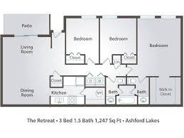 three bedroom floor plans 3 bedroom apartment floor plans pricing ashford lakes