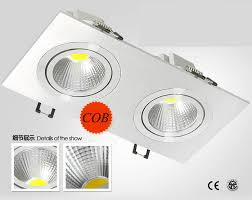 warm led recessed lights double cob led downlight 2 10w dimmable led recessed lights for home