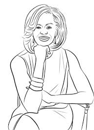 michelle obama coloring page free printable coloring pages