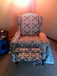 reupholstered reclining wingback chair u2013 spoonfulofjemily
