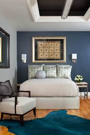gray bedroom with blue accent wall nrtradiant com