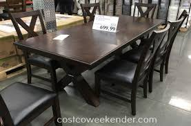 bayside furnishings 9 piece dining set costco weekender whalen