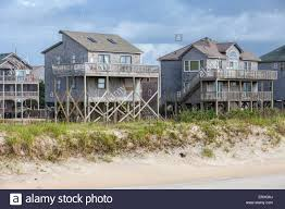 frisco outer banks north carolina beach side homes on stilts to