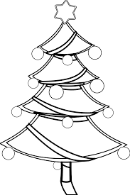 christmas tree xmas coloring book colouring black white line art