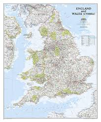 Map Of England by And Wales Classic