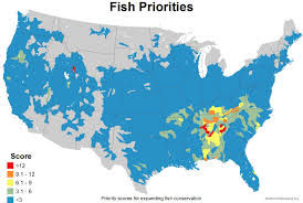 Map Us Usa by Mapping The Usa U0027s Fish Diversity