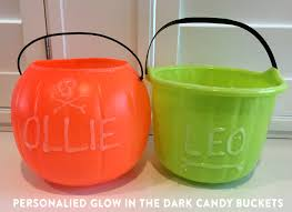 personalized glow in the dark halloween buckets jenallyson the