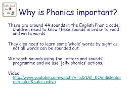 parents meeting monday 16 th november 9am why is phonics