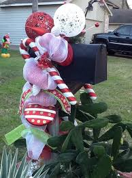 Christmas Mailbox Decoration Ideas 45 Best Our Deco Mesh Christmas 2013 Images On Pinterest Deco