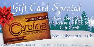 thanksgiving gift card special november 20th november 25th
