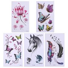 1 sheet temporary tattoos gold butterfly