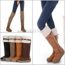 womens knee high boots platforms toe knee high boots warm shoes 2way