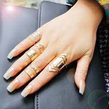 rings set images F u zinc alloy gold color ring set for 5pcs fashion girls gift jpg