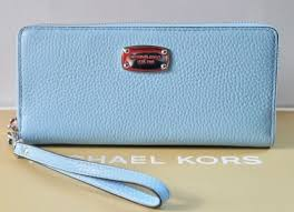 michael kors light blue wallet michael kors jet set item travel continental wallet leather light