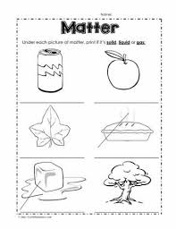 solid liquid or gas worksheets