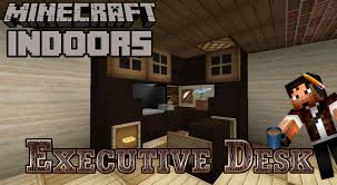 Office Desk Games by Executive Desk Minecraft Indoors Office Desk Tutorial Youtube