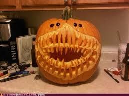 Meme Pumpkin - pumpkin carving is really hitting its renaissance cute funny ew