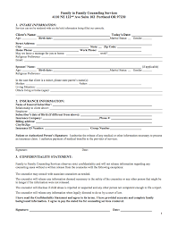 Counseling Intake Form Family Counseling