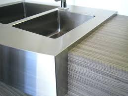 apron kohler stainless steel farm sink sinks travertine kitchen