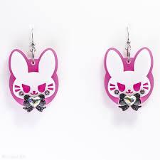 pink earrings bad buns in pink earrings kuma crafts