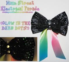 parade ribbon electrical parade hair bow